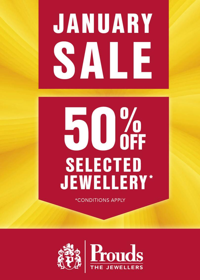 50% off selected Jewellery  *conditions apply
